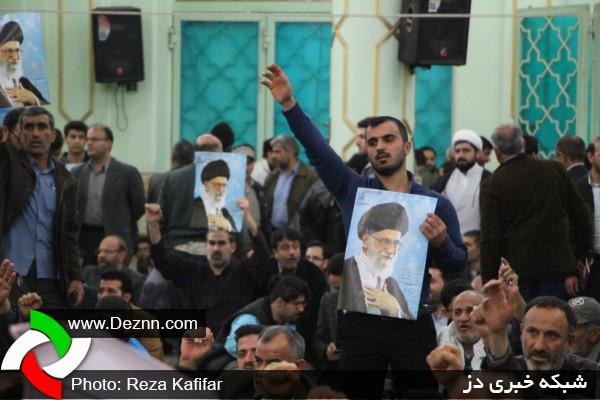 تصاویری از اجتماع مردمی یوم الله 9 دی در حرم مطهر سبزقبا (ع) دزفول