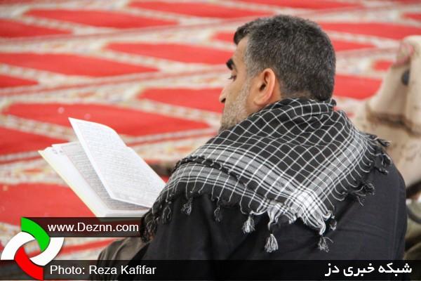 مراسم معنوی اعتکاف در مسجد شهید توتونچی دزفول
