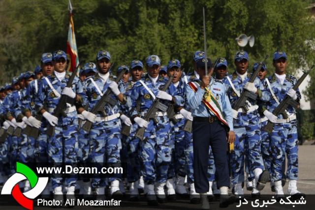صبحگاه مشترک نیروهای مسلح شهرستان دزفول