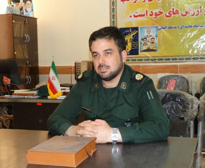 فرمانده ناحیه مقاومت بسیج شهرستان آغاجاری تودیع شد + تصاویر