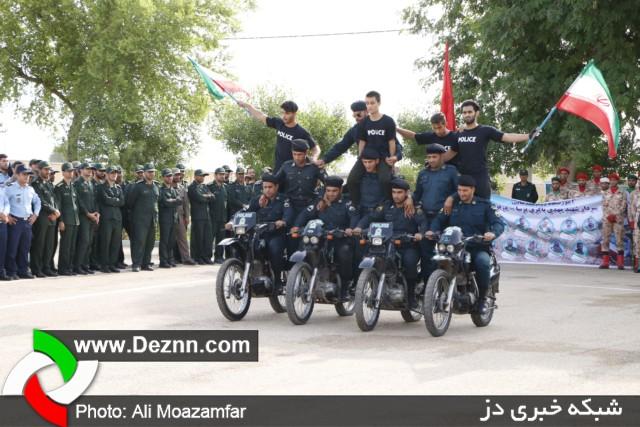 صبحگاه مشترک نیروهای مسلح شهرستان دزفول به مناسبت هفته ناجا
