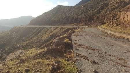 ریزش کوه جاده روستای کارنج در سردشت دزفول را تخریب کرد + عکس