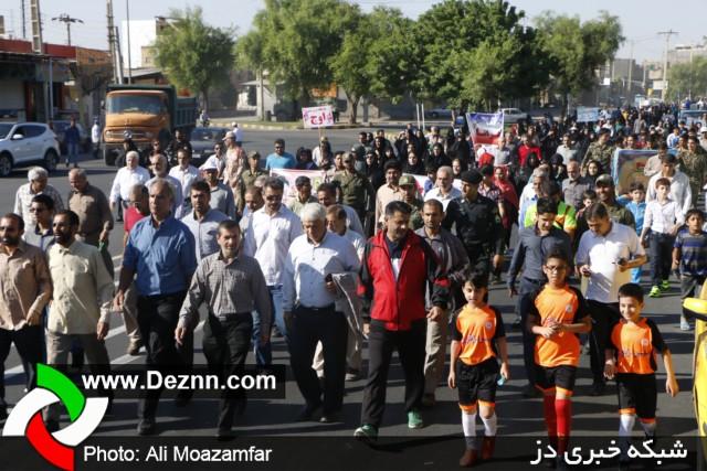 پیاده روی همگانی به مناسبت هفته دفاع مقدس در دزفول
