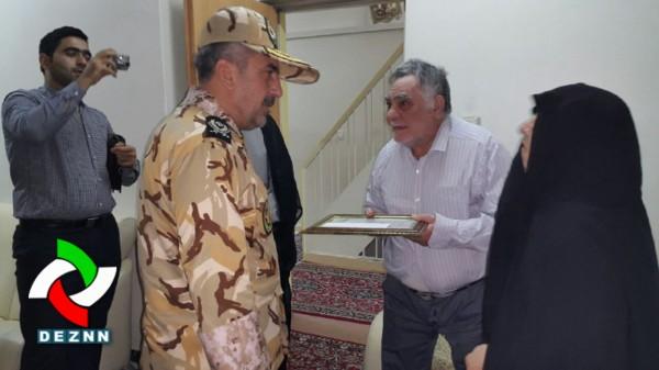 فرماندهان ارشد نزاجا با خانواده شهید دزفولی دیدار کردند + عکس