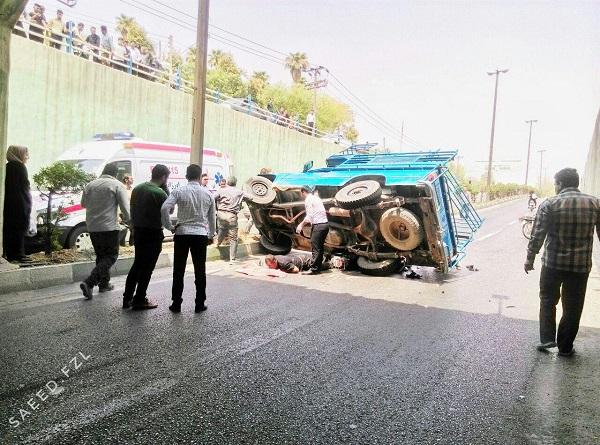 تصادف در زیرگذر میدان امام حسین دزفول سه مصدوم برجای گذاشت