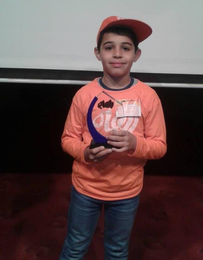 کسب مقام سوم فستیوال محاسبات ذهنی با چرتکه و روبیک کشور توسط کودک دزفولی