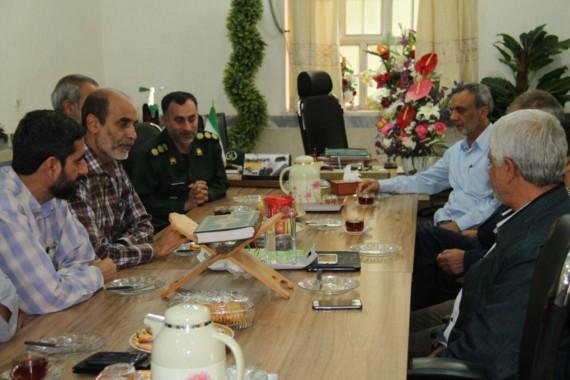 شهردار دزفول با فرمانده سپاه و تنی چند از جانبازان دیدار کرد