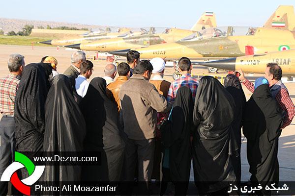 ۱۸۰ هزار نفر از نمایشگاه هوایی راهیان نور در دزفول دیدن کردند